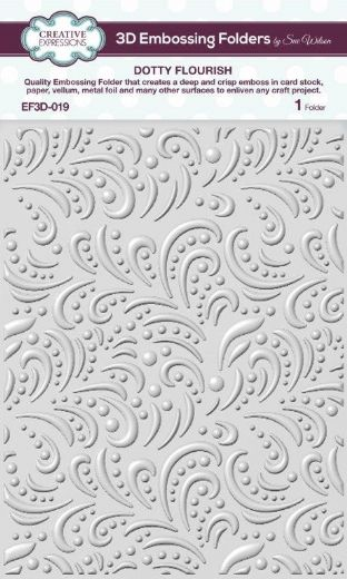 CE Embossing Folder 3D 5 3/4 x 7 1/2 Dotty Flourish